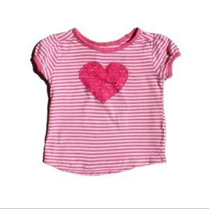 Children's Place Heart T-shirt, Size 3